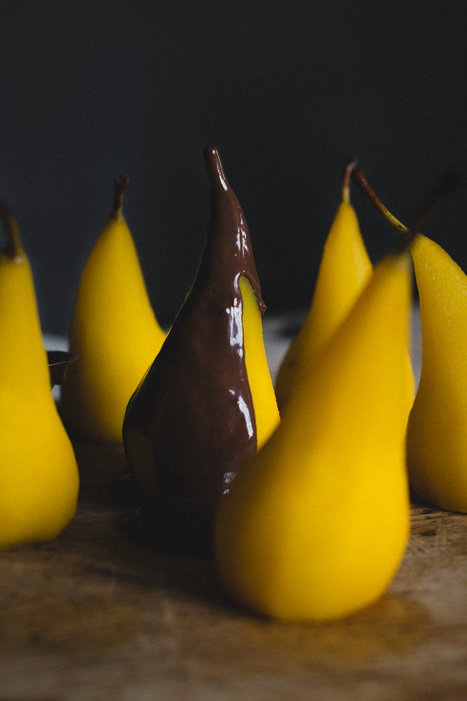 Saffron pears by Babes in Boyland