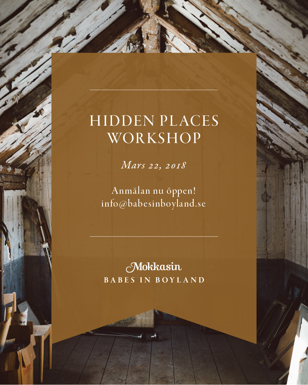 Hidden places workshop by Babes in Boyland & Mokkasin