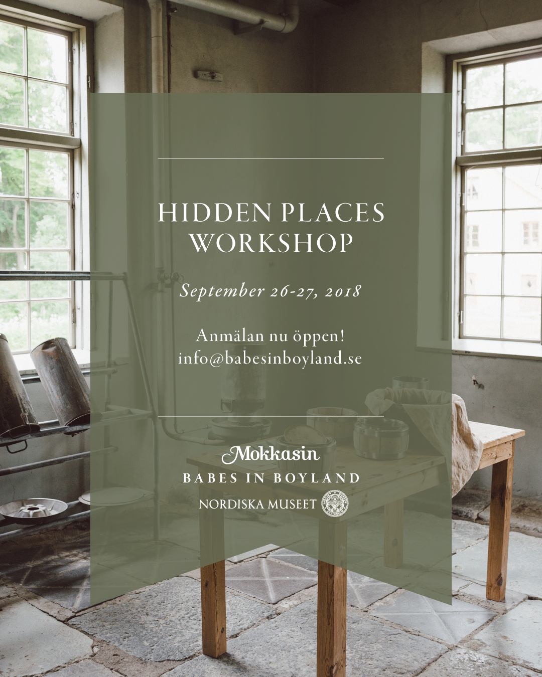 Hidden places workshop by Babes in Boyland & Mokkasin