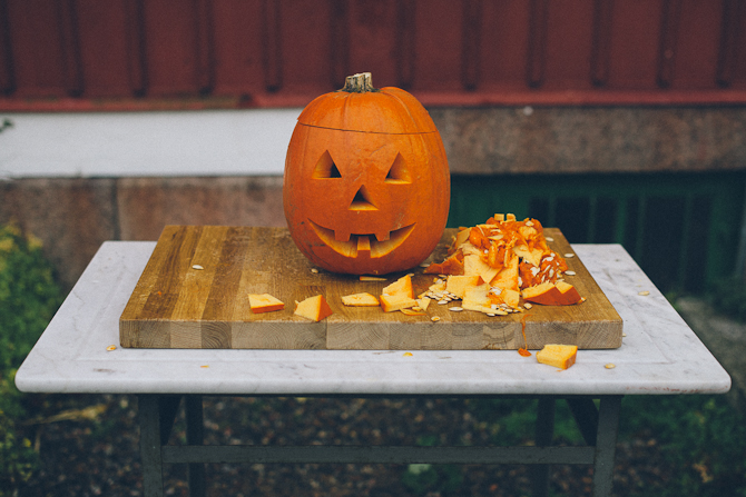 Halloween pumpkin by Babes in Boyland